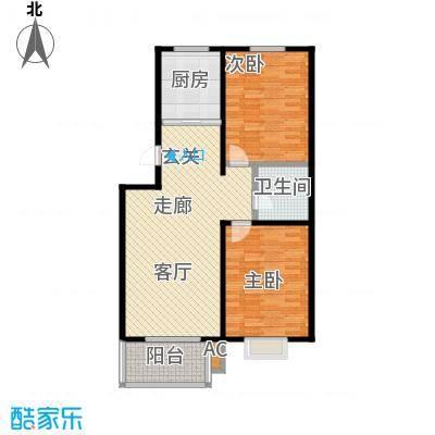 钢苑新区D户型两室两厅一卫一厨89.19平米户型LL