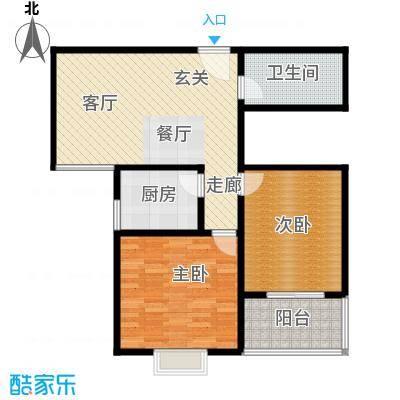 钢苑新区E户型三室两厅两卫84.33平方米户型LL