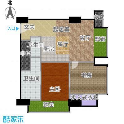 工体3号100.69㎡两室两厅两卫 户型