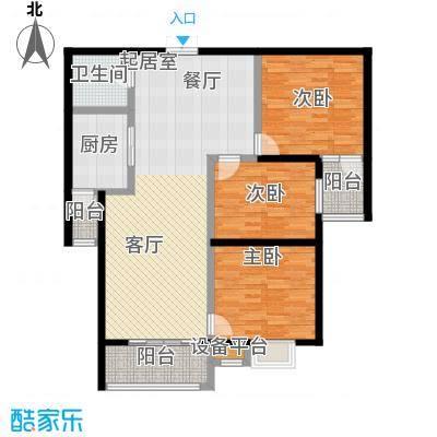 锦绣江南114.47㎡B1户型3室2厅1卫