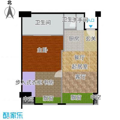 工体3号92.60㎡一室两厅两卫户型