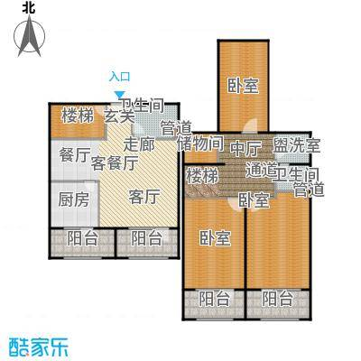华世隆国际公寓238.92㎡P户型