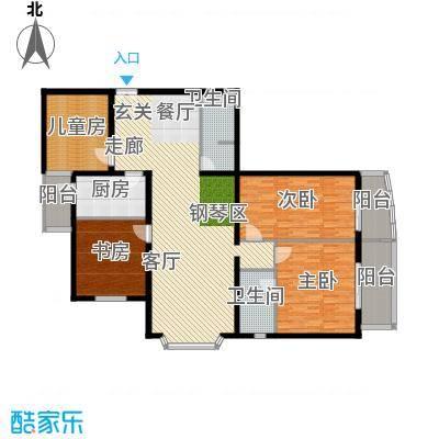 凯景铭座183.18㎡四室两厅两卫一厨户型