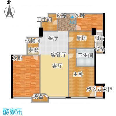 建国国际公寓166.00㎡3室2厅2卫户型
