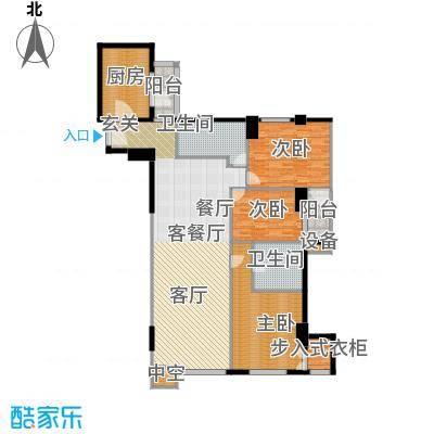 建国国际公寓169.68㎡3室2厅2卫户型
