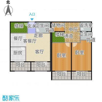 华世隆国际公寓215.88㎡D户型