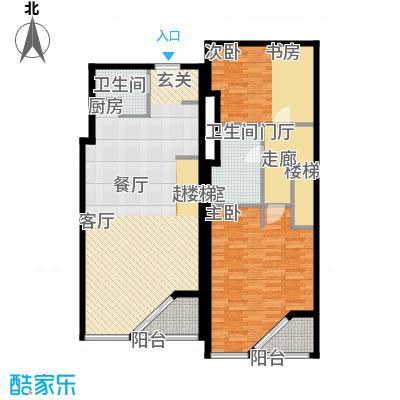 元嘉国际公寓(钛度)119.35㎡跃层二居户型