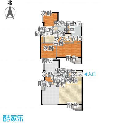 元嘉国际公寓(钛度)231.62㎡跃层三居户型