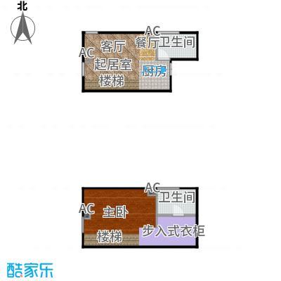 东阙都61.00㎡(0712)两室两厅两卫LOFT户型