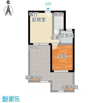 山泉海山泉海二期A1-2户型图户型1室1厅1卫