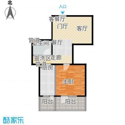 悦园(悦莱苑)1-F户型一室一厅一卫户型