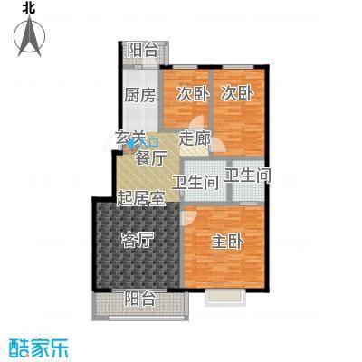 漫步巴黎参考使用面积90平户型2室2厅1卫