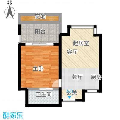 安富・雨林海68.78㎡B户型一室一厅一厨一卫户型1室1厅1卫