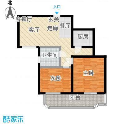 健翔园87.55㎡二居室户型