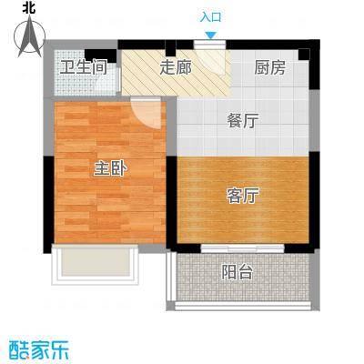 御景龙庭62.19㎡A1户型