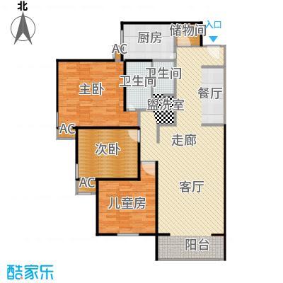 金晖嘉园112.60㎡3室2厅2卫1厨户型