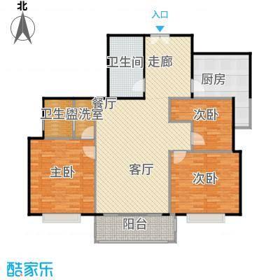 沁春家园116.58㎡三期D户型3室2厅2卫户型