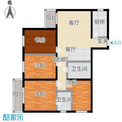 鑫德嘉园139.86㎡四居室户型