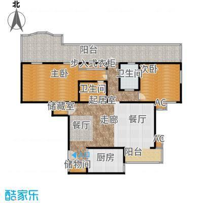 金晖嘉园102.57㎡2室2厅2卫1厨户型