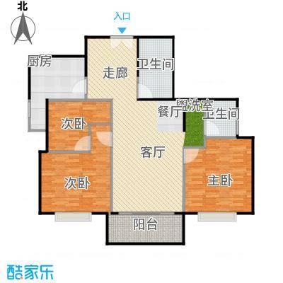 沁春家园116.58㎡三期D反户型3室2厅2卫户型