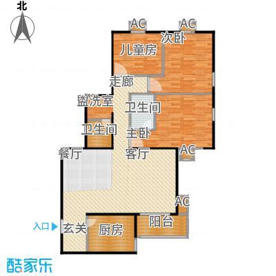 金晖嘉园106.50㎡3室-2厅2卫1厨户型