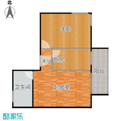 沁春家园105.56㎡二室二厅一卫户型