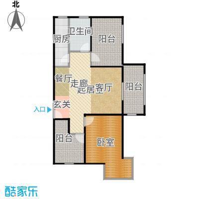 北京城建・红木林81.00㎡B2户型1室2厅1卫