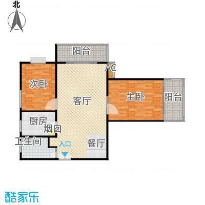 沁春家园109.45㎡三期A反户型2室2厅1卫户型