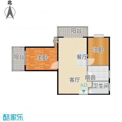 沁春家园109.45㎡三期A户型2室2厅1卫户型