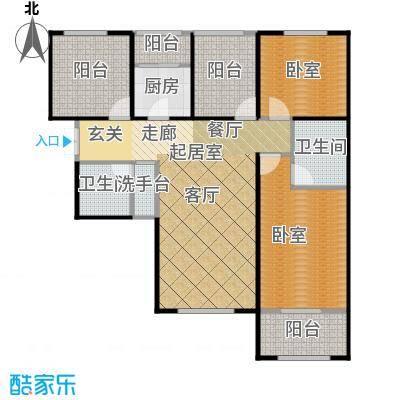 北京城建・红木林104.00㎡C5户型2室2厅2卫