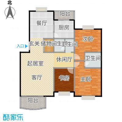 兴都苑(水榭楼台)三室两厅两卫户型