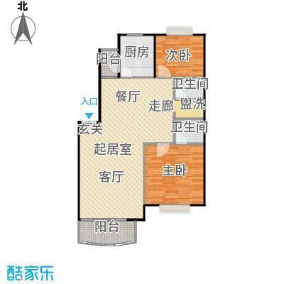 兴都苑(水榭楼台)两室两厅两卫户型