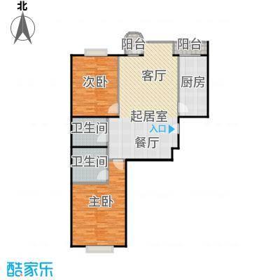 幻星家园110.89㎡二室二厅二卫户型