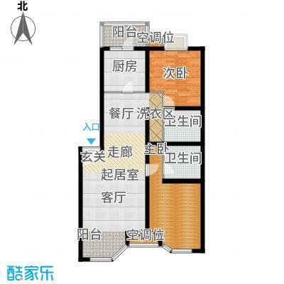 灵秀山庄(水语自然)101.69㎡二室二厅户型