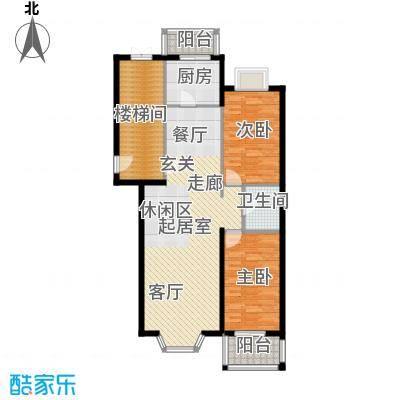 绿城・星洲花园102.47㎡两室两厅一卫户型