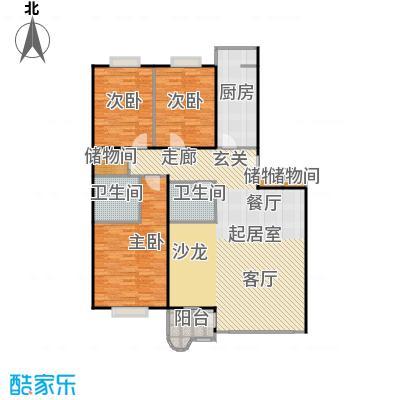 幻星家园151.54㎡三室二厅二卫户型