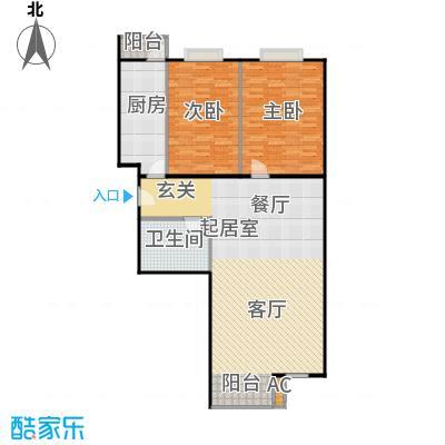 幻星家园109.92㎡二室二厅一卫户型