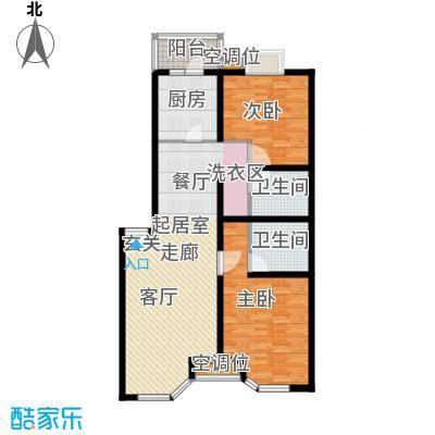 灵秀山庄(水语自然)101.69㎡2室2厅2卫1厨户型
