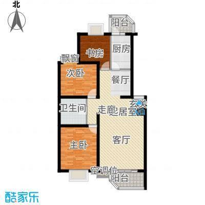 灵秀山庄(水语自然)102.39㎡三室二厅户型