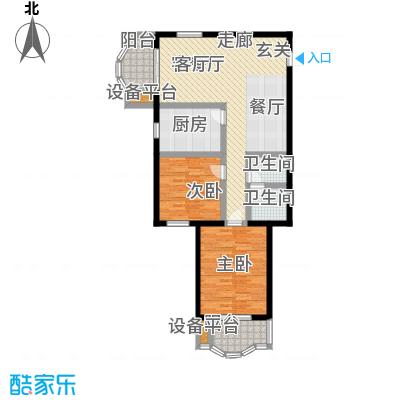 燕景佳园94.12㎡二室一厅一卫户型