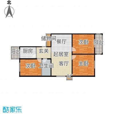 清欣园112.00㎡三室一厅一卫户型