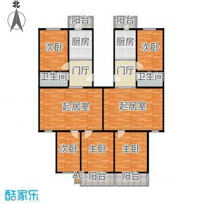 清欣园101.00㎡两室一厅一卫户型