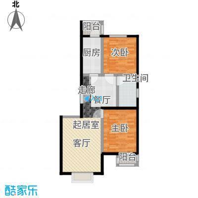 艺苑・桐城J3户型 两室两厅一卫户型2室2厅1卫