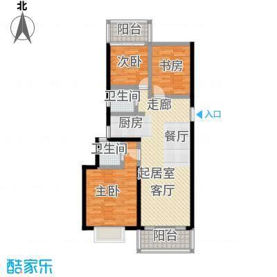 漓江蓝湾95.29㎡5#H户型(两房变三房)户型2室2厅2卫
