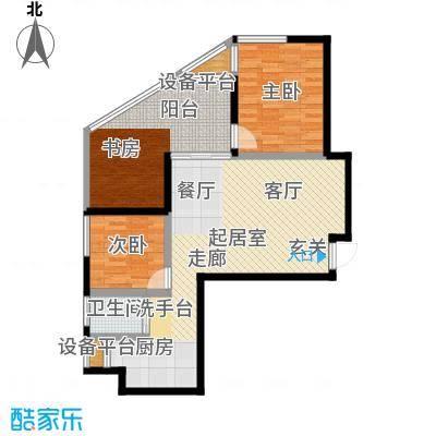 漓江蓝湾87.43㎡6#B4户型2室2厅1卫