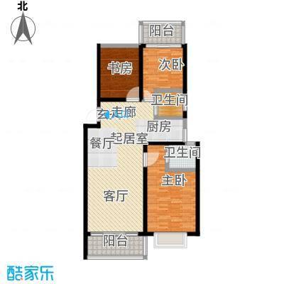 漓江蓝湾97.19㎡5#C户型(两房变三房)户型2室2厅2卫