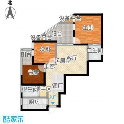 漓江蓝湾92.42㎡8#B4户型2室2厅1卫