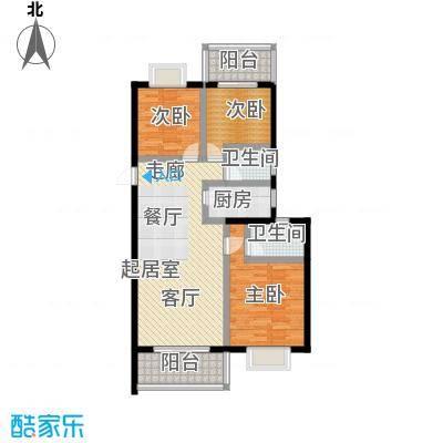 漓江蓝湾95.00㎡多层户型图户型3室2厅2卫