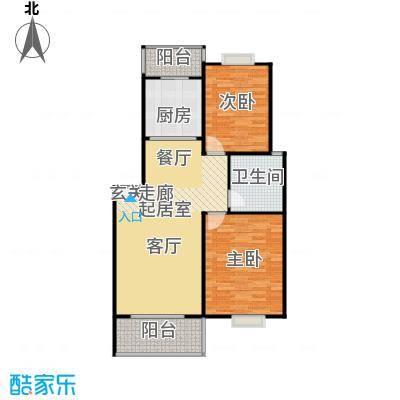水岸新城2房2厅1卫(P2)户型