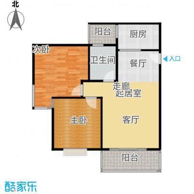 水岸新城2房2厅1卫(G)户型